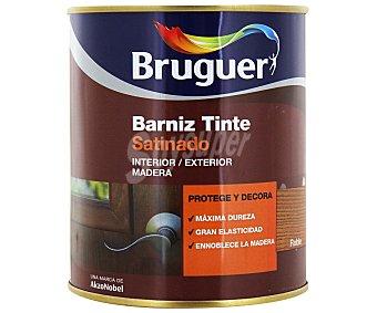 BRUGUER Barniz para muebles con tinte de color roble y acabado satinado 0,75 litros
