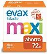 Salvaslip cottonlike maxi Caja 72 unidades Evax