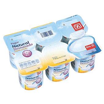 DIA Yogur natural desnatado edulcorado Pack 6 unidades 125 g