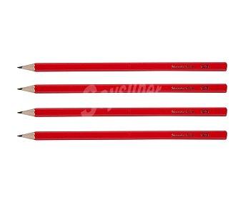 PAPELERÍA 4 lápices de color rojo, papelería. 4 l