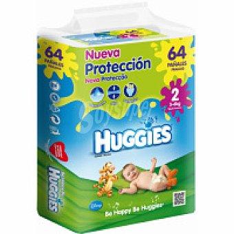 Huggies Pañales Jumbo Talla 2 Paquete 64 unid