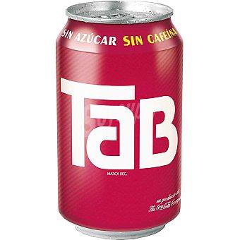 TAB Refresco de cola sin azúcar y sin cafeína Lata 33 cl