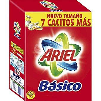 ARIEL BASICO Detergente máquina polvo maleta 35 cacitos Maleta 35 cacitos