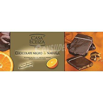 Casa Eceiza Galletas con trocitos de naranja bañadas en chocolate negro Estuche 100 g