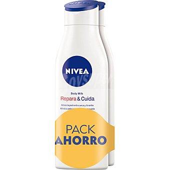 Nivea Leche corporal Repara & Cuida para piel extra seca Pack 2 frasco 400 ml