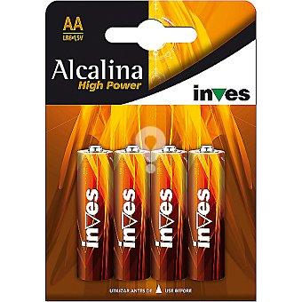 Pila alcalina AA(LR6) 1,5 voltios blister 4 unidades