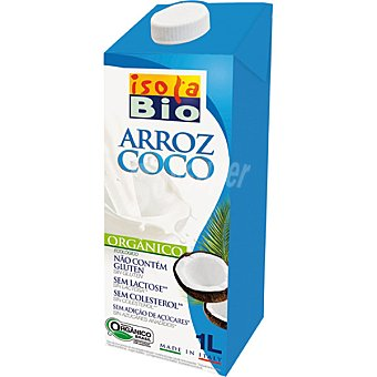 Isolabio Qbio Bebida de arroz con coco ecológica sin gluten Envase de 1 l