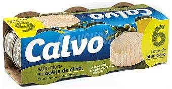 Calvo Atún claro en aceite de oliva pack de 6x52 g