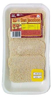 Jovi San jacobos (empanado) fresco Bandeja 400 g peso aprox. (4 unidades)