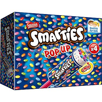 Nestlé Smarties Pop Up helado 5 unidades estuche 425 ml 5 unidades