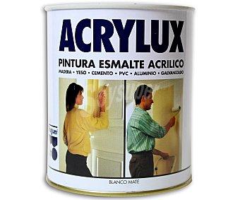 BRUGUER Esmalte acrílico sintético de color blanco y acabado mate 0,75 litros
