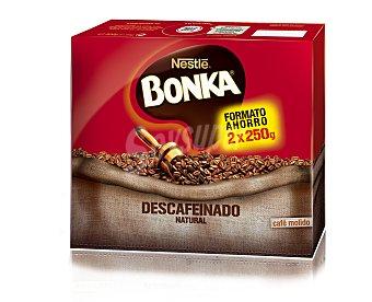 Bonka Nestlé Café molido natural descafeinado Pack de 2x250 g