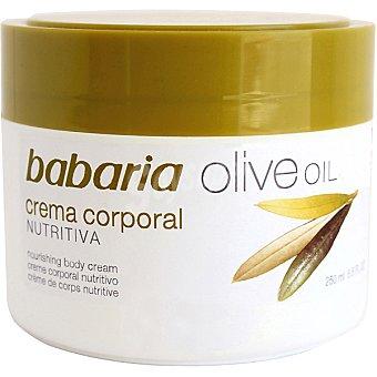 Babaria Crema corporal nutritiva con aceite oliva Tarro 200 ml
