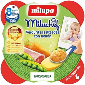 Milupa Miluchef Tarrito verduritas salteadas con jamón a partir de 8 meses Envase 200 g