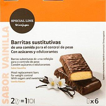 Special Line Barritas sustitutivas control de peso sabor vainilla 6 unidades x 35g caja 210 g 6 unidades x 35g
