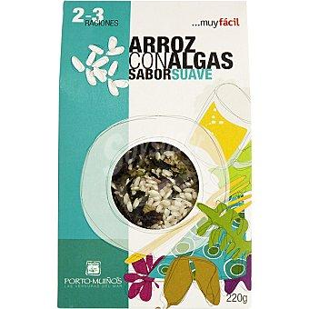 Porto Muiños Arroz con algas sabor suave Envase 220 g