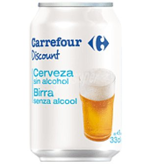 Carrefour Discount Cerveza sin alcohol Lata de 33 cl