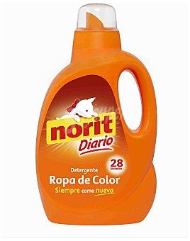 Norit Detergente máquina líquido ropa de Color Botella 28 dosis