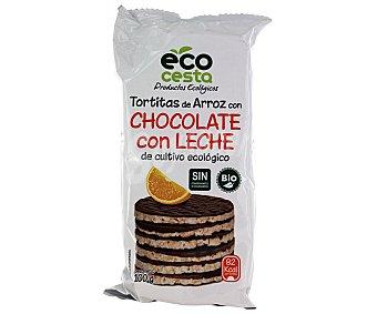 Ecocesta Tortas arroz c/choco leche bio 100 g