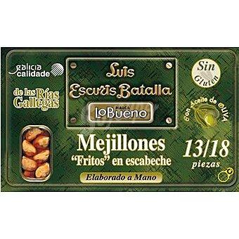 Lobueno Mejillones fritos en escabeche de las rías gallegas 13-18 piezas Lata 72 g neto escurrido