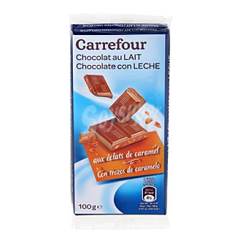 Carrefour Chocolate con leche con caramelo pack 2x100 g
