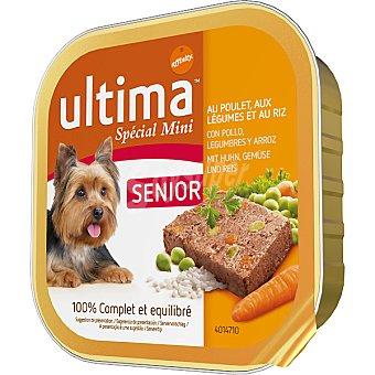 Ultima Affinity Alimento para perros de raza mini con pollo, legumbres y arroz Special Mini Senior Tarrina de 150 g