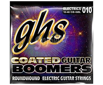 GHS Pack de 6 cuerdas para guitarra eléctrica GBL Boomers Light 10-46, calibres: 010, 013, 017, 026, 036, 046 calibres: 010, 013, 017, 026, 036, 046