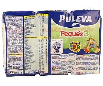 Puleva Leche de crecimiento con cereales y frutas Peques 3 3 unidades de 200 mililitros