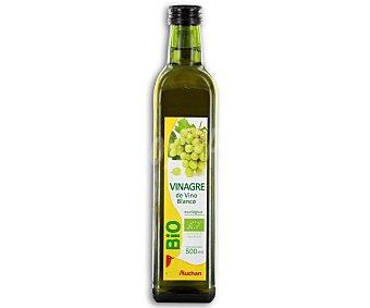 AUCHAN BIO Vinagre de vino blanco botella de 500 mililitros