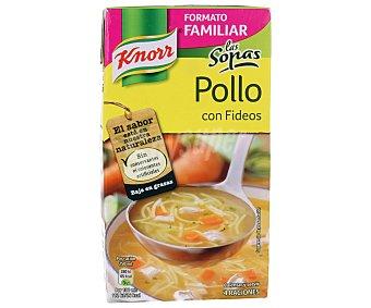 Knorr Sopa de pollo con fideos Brik 1 litro
