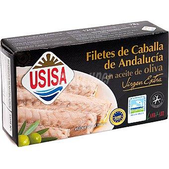 Usisa Filetes de caballa de Andalucía en aceite de oliva virgen extra Lata 78 g neto escurrido