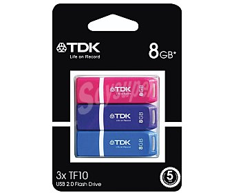 TDK TF10 Memoria 8GB Usb 2.0 3u