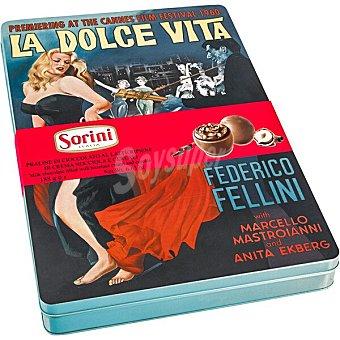 Sorini Bombones rellenos de crema de avellanas y cereales latas con diseños surtidos Lata 188 g