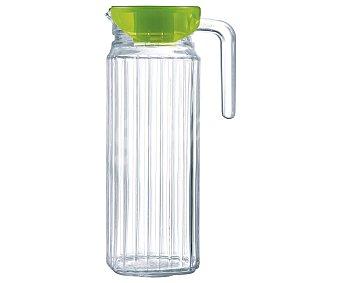 LUMINARC Keep N Jarra de vidrio transparente con tapa color verde, 1,1 litro, Keep N LUMINARC. 1,1 litro