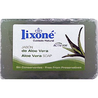 Lixone Pastilla de jabon de aloe vera piel seca o sensible Pack 3 pastilla 125 g