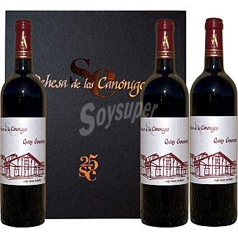 DEHESA DE LOS CANONIGOS Quinta Generación vino tinto roble D.O. Ribera del Duero 75 cl Estuche 3 botellas