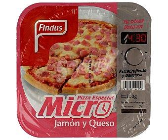 Findus Pizza de jamón y queso especial para microondas 200 g