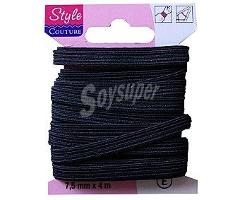 STYLE Cinta elástica flexible color negro, 7,5 milímetros, 4 metros crea pecam 1 Unidad 1 Unidad