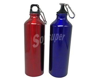 Euraspa Botella de aluminio de 0,75 litros ideal para camping o entrenamiento, EURASPA. 0,75 litros