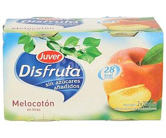 Juver Melocotón en tiras sin azúcar Pack 2x115 g
