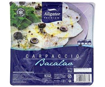 ALIGATOR PREMIUM Carpaccio bacalao 80 Gramos
