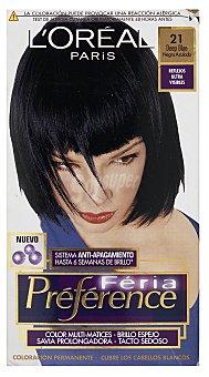 L'Oréal Paris Coloración Permanente 21 Deep Blue de Préférence 1 ud