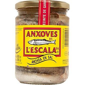 Anxoves de L´Escala Filetes de anchoa en salazón Frasco 365 g neto escurrido