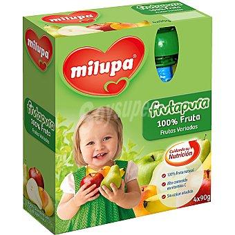 Milupa Bolsita Frutapura frutas variadas Pack de 4x90 g
