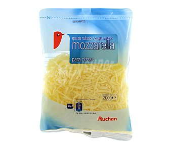 Auchan Queso rallado mozzarella 200 g