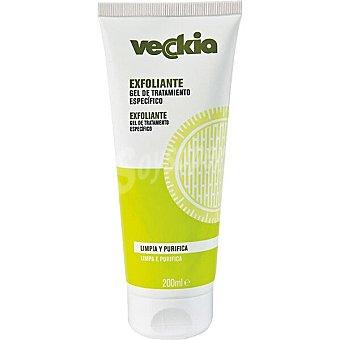 Veckia Crema corporal gel exfoliante limpia y purifica Tubo 200 ml