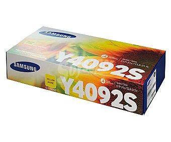 Samsung Toner CLT-Y4092, Amarillo, compatible con impresoras: CLP310/315, CLX3170FN/3175N/3175FN/3175FW