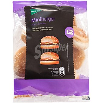 El Corte Inglés Pan para mini hamburguesas con sésamo bolsa 260 g 12 unidades