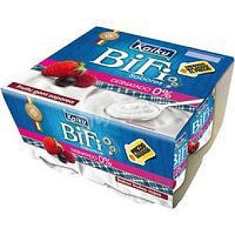 Kaiku Bifi 0% frutos rojos Pack 4x125 g