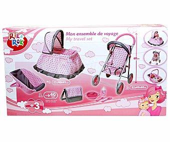 RIK & ROK Cuna, Silla, Maxicosi y Bolso para Muñecos Bebé 1 Unidad